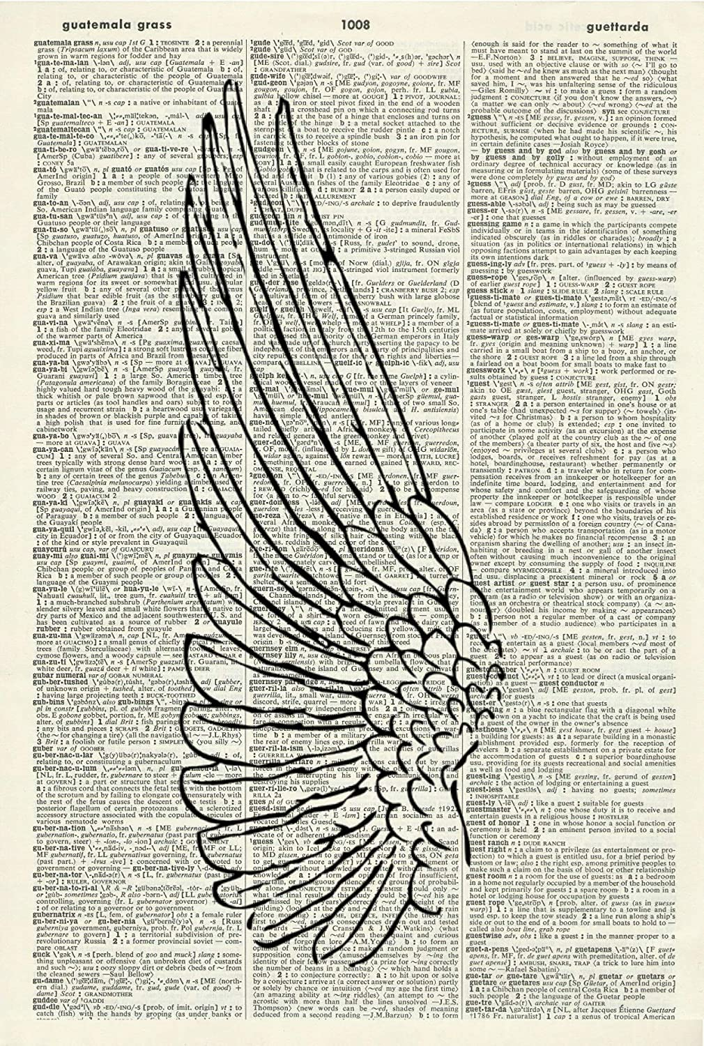 Book Page Print 442KLD Picture Religious Art Print Angel Wall Art Wall Hanging Vintage Art Print Angel Wing Illustration Vintage Dictionary Art Print Home D/écor Angel Wing Art Print