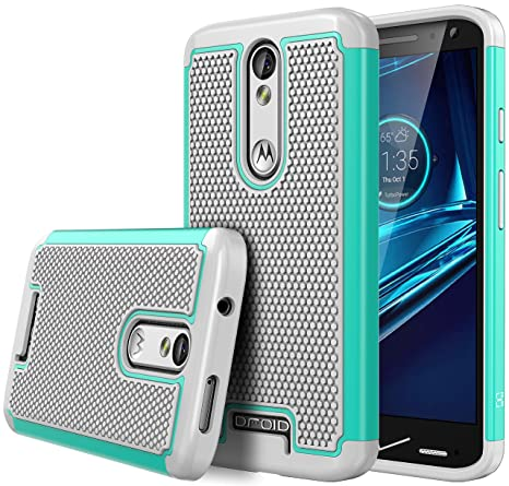 Droid Turbo 2 case, iTronic Double Tone, Dual Layer Hybrid Defender Case for Motorola