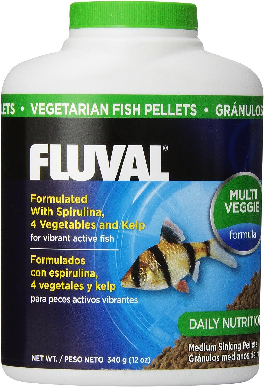 Fluval Vegetarian Pellets Fish Food 340gm, 12-Ounce