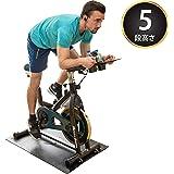 マッスルジーニアス(Muscle Genius) フィットネスバイク スピンバイク サイクルコンピューター付属 キャスター/床面保護マット付き MG-SB01 36548