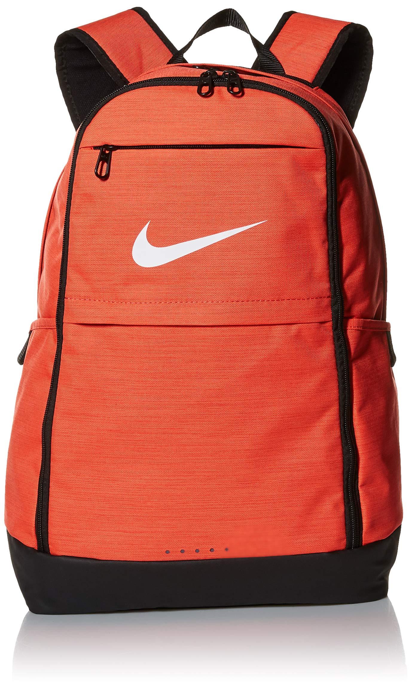 NIKE Brasilia Backpack, Rush Coral/Black/White, X-Large