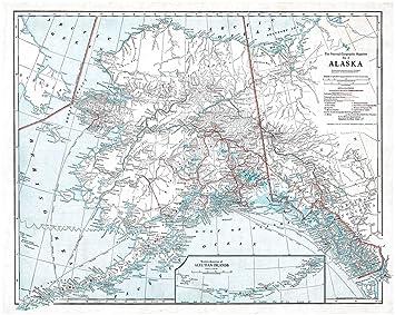 Amazon Com Historic Map Ca 1914 Map Of Alaska Showing Latest