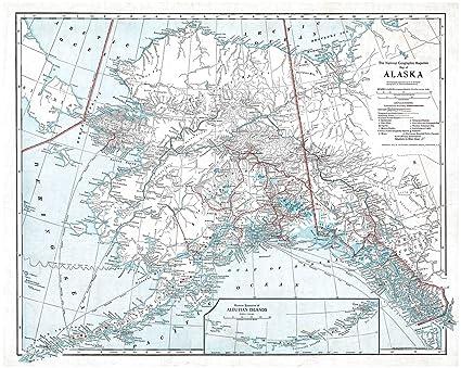 Amazoncom Vintage Map Ca 1914 Map Of Alaska Showing Latest - Us-coast-and-geodetic-survey-maps