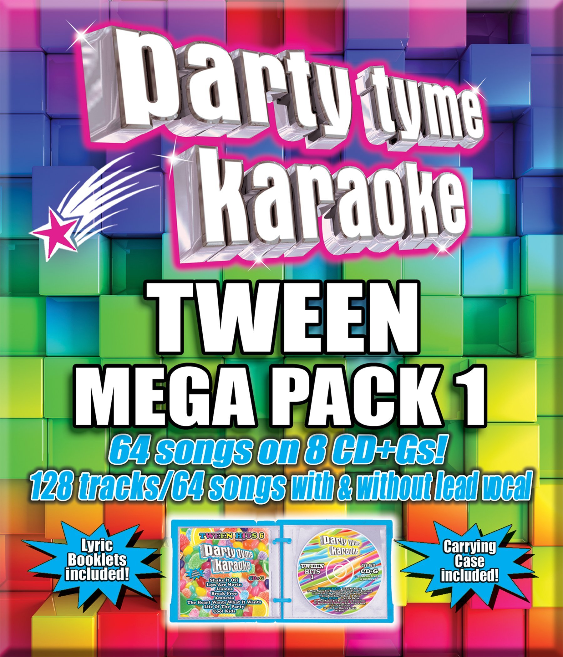 Party Tyme Karaoke - Tween Mega Pack 1 [8 CD][64+64-Song Party Pack] by Sybersound