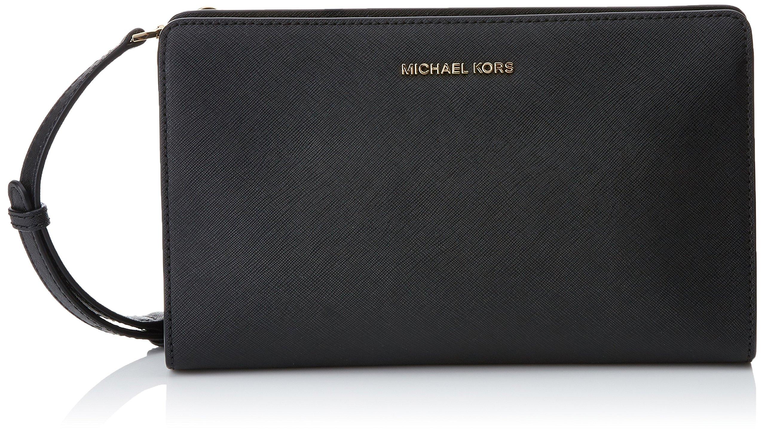MICHAEL Michael Kors Women's Large Cross Body Clutch, Black, One Size