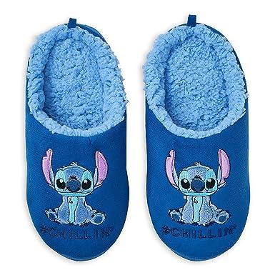 44237797ba08 Amazon.com  Disney Stitch Slippers for Women Blue  Clothing