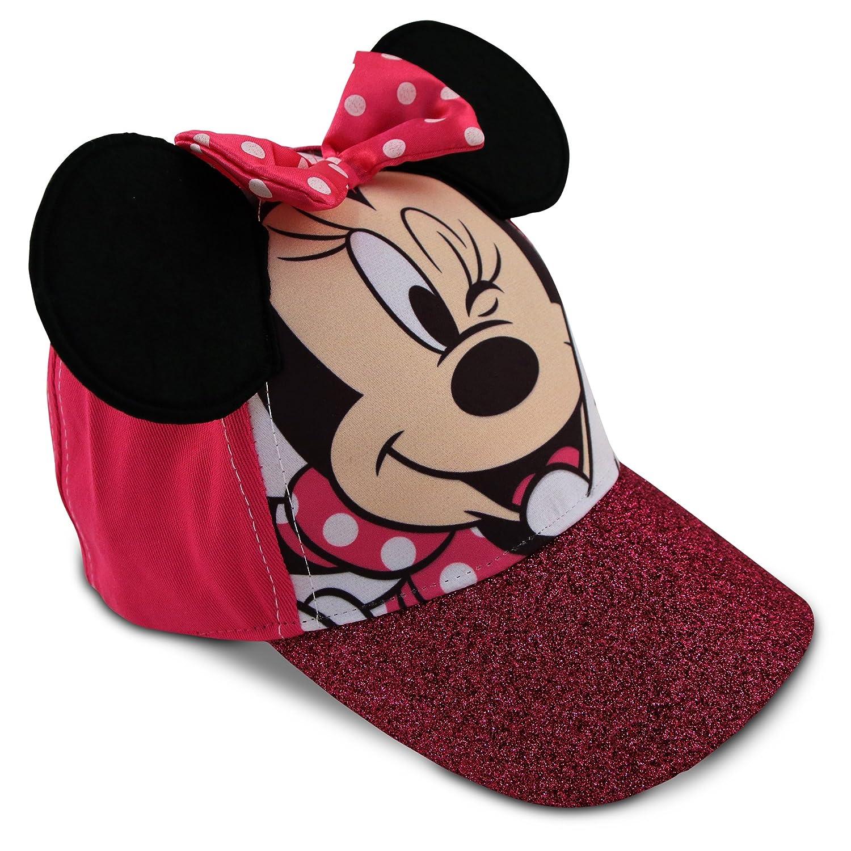 Disney Little Girls Minnie Mouse Character Cotton Baseball Cap Age 2-7