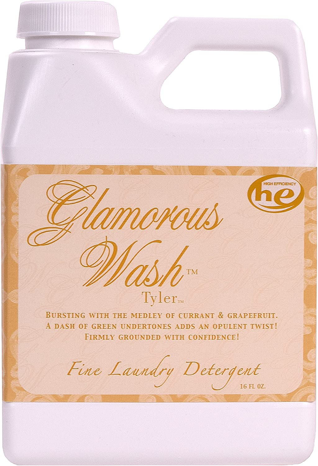 Tyler Candle Tyler Fragrance Glamorous Wash 16 oz Fine Laundry Detergent by