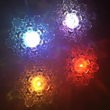 tbw snowflake led nightlights color changing window lights with suction cups for halloween christmas weddings birthday
