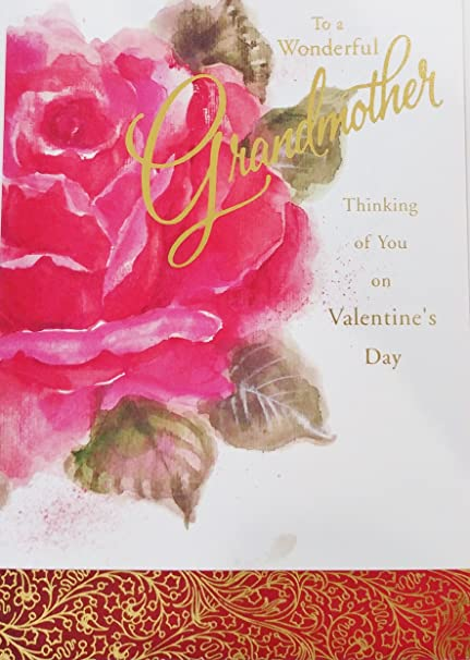 To A Wonderful Grandmother Thinking Of You On Valentines Day Greeting Card Valentine For