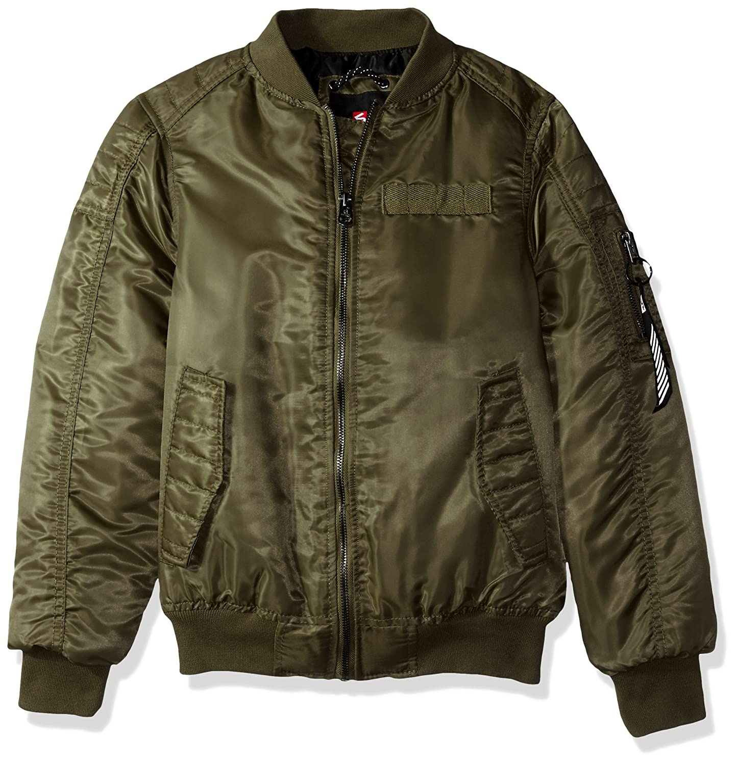 Southpole Boys' Big Ma-1 Bomber Flight Jacket with Biker Detail
