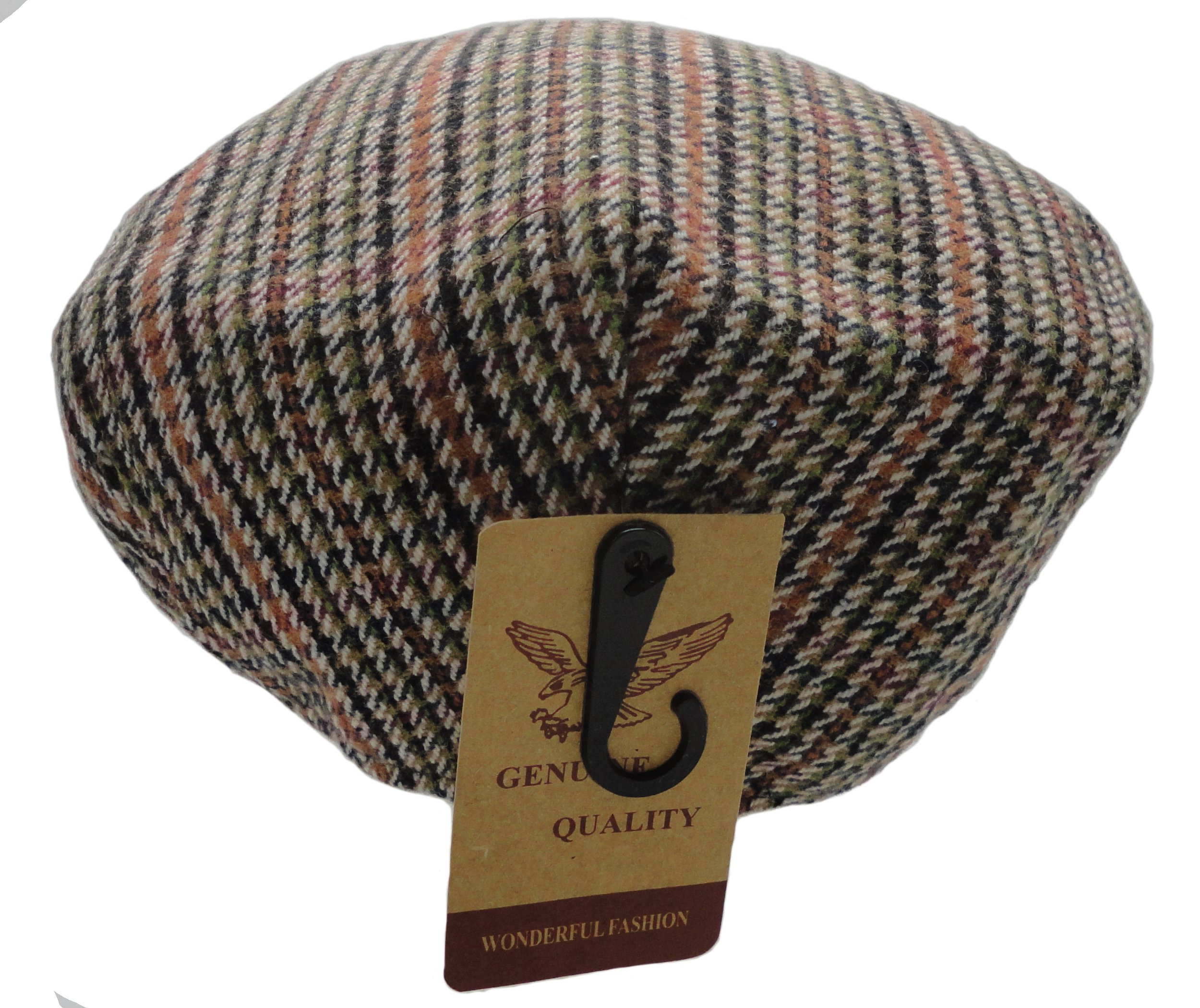 73e7c0c2d4a Wonderful Fashion Men s Classic Herringbone Tweed Wool Blend Newsboy Ivy Hat  (S M