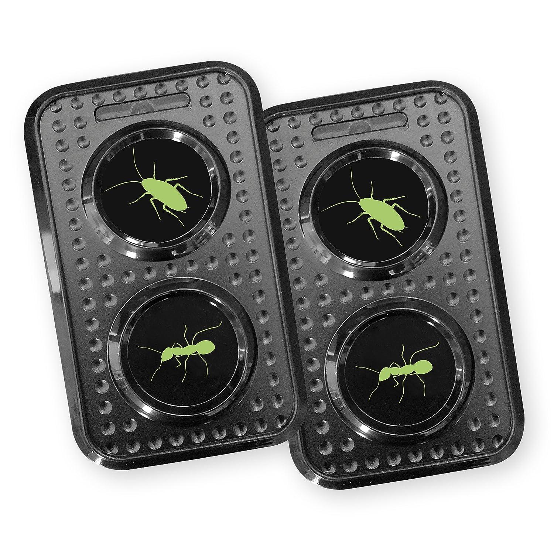 ISOTRONIC Ameisenschreck/Schaben- und Kakerlakenschreck 230V mit Ultraschall für Haus, Scheune, Garten und Garage, besonders hohe Töne, Wechselfrequenz gegen Gewöhnungseffekt (2) besonders hohe Töne