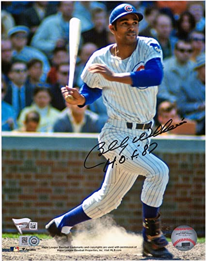 5fbb5a712e4 Image Unavailable. Image not available for. Color  Billy Williams Chicago  Cubs Autographed 8 quot  x 10 quot  Hitting Photograph with HOF 87  Inscription