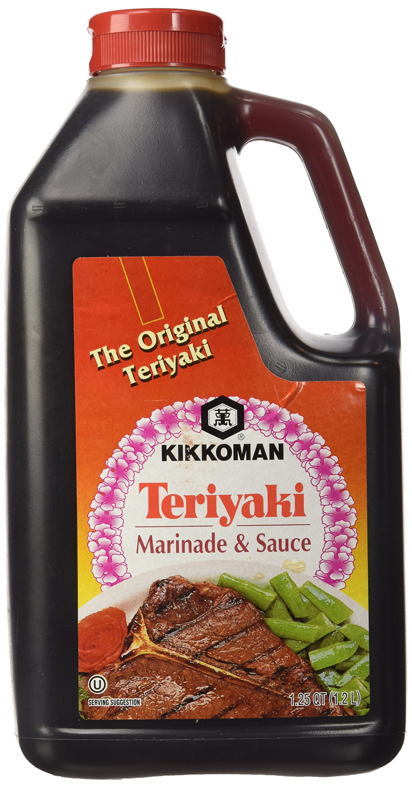 Kikkoman Teriyaki Marinade & Sauce, 40 Oz (1.25 Qt)