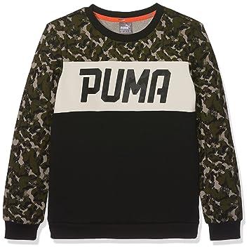 55c42669ebad4 PUMA Style Sweat-shirt Enfant Olive Night FR   M (Taille Fabricant   140