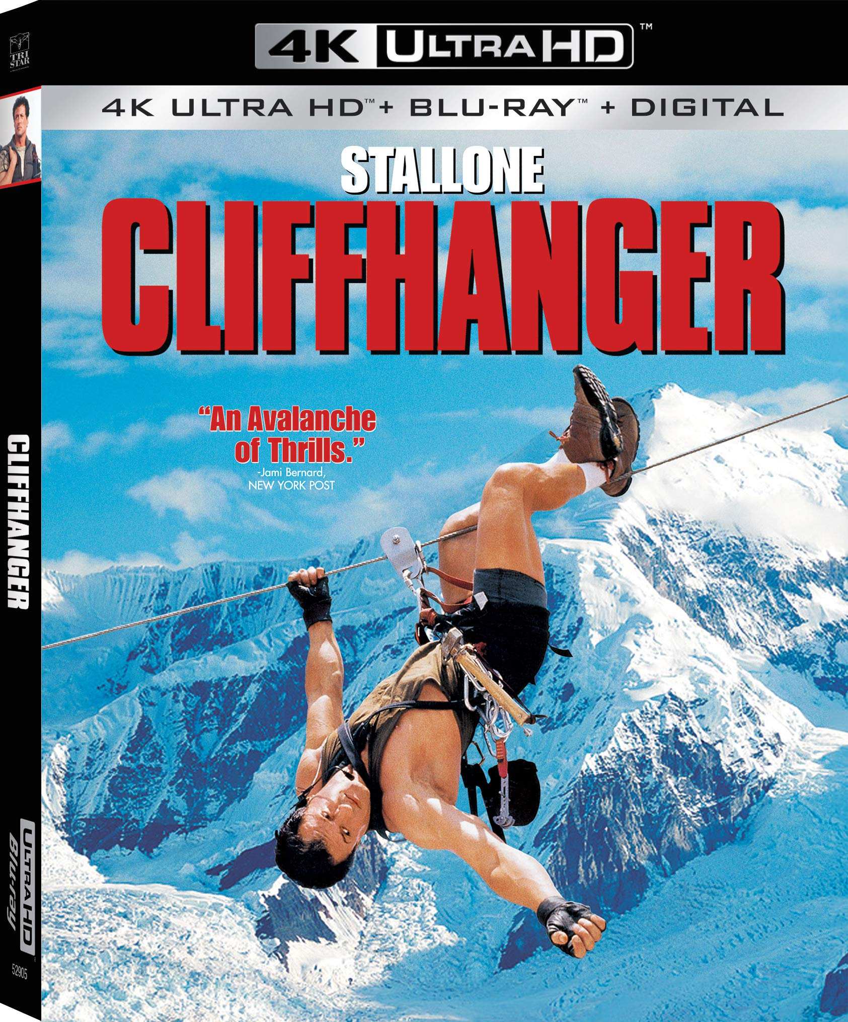 4K Blu-ray : Cliffhanger (With Blu-ray, 4K Mastering, Widescreen, Dubbed, Subtitled)