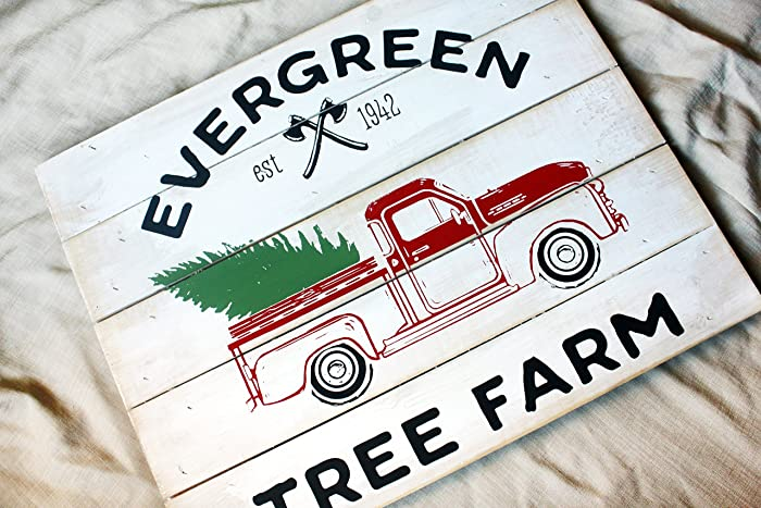 rustic christmas decor painted christmas signs farmhouse wall decor for christmas holiday wall - Christmas Decor Signs