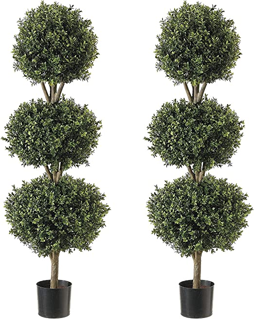 Amazon Com Northwood Calliger 4 6 Artificial Topiary Triple Ball