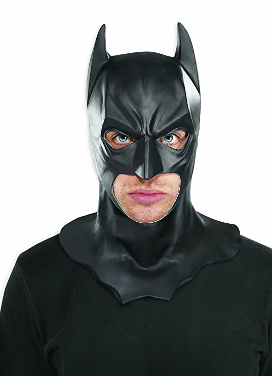 amazoncom batman the dark knight rises full batman mask black one size clothing