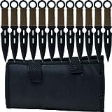 Whetstone Throwing Knives - 12 Piece Set - S-Force Kunai, Silver