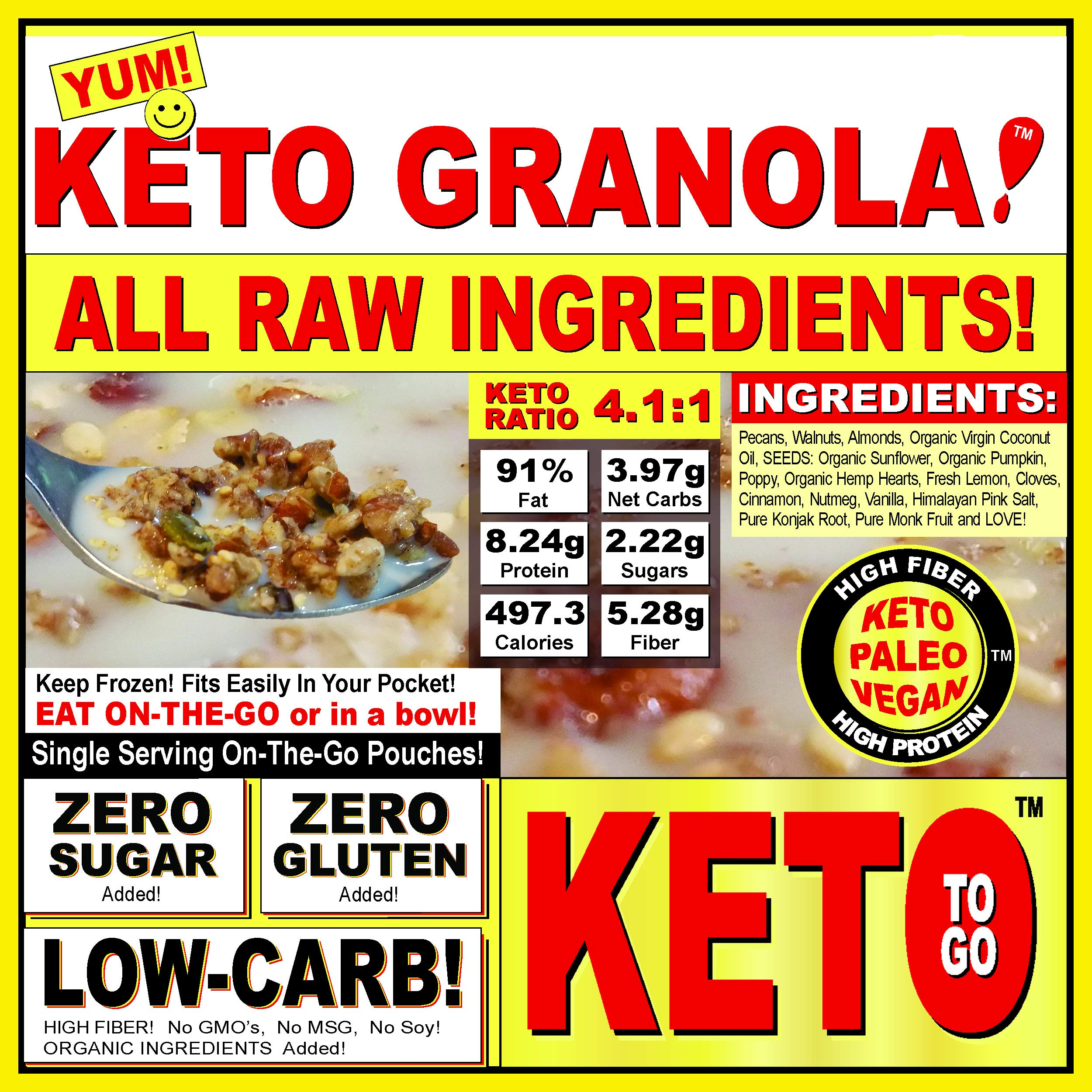 KETO BAKERY LOW CARB PIZZA & FAT BOMB HOLIDAY GIFT BOX ~ 75 Servings! GLUTEN FREE! NO SUGARS ADDED! HIGH FAT LOW CARB DESSERT MEALS, FAT BOMBS by KETO TO GO (Image #8)