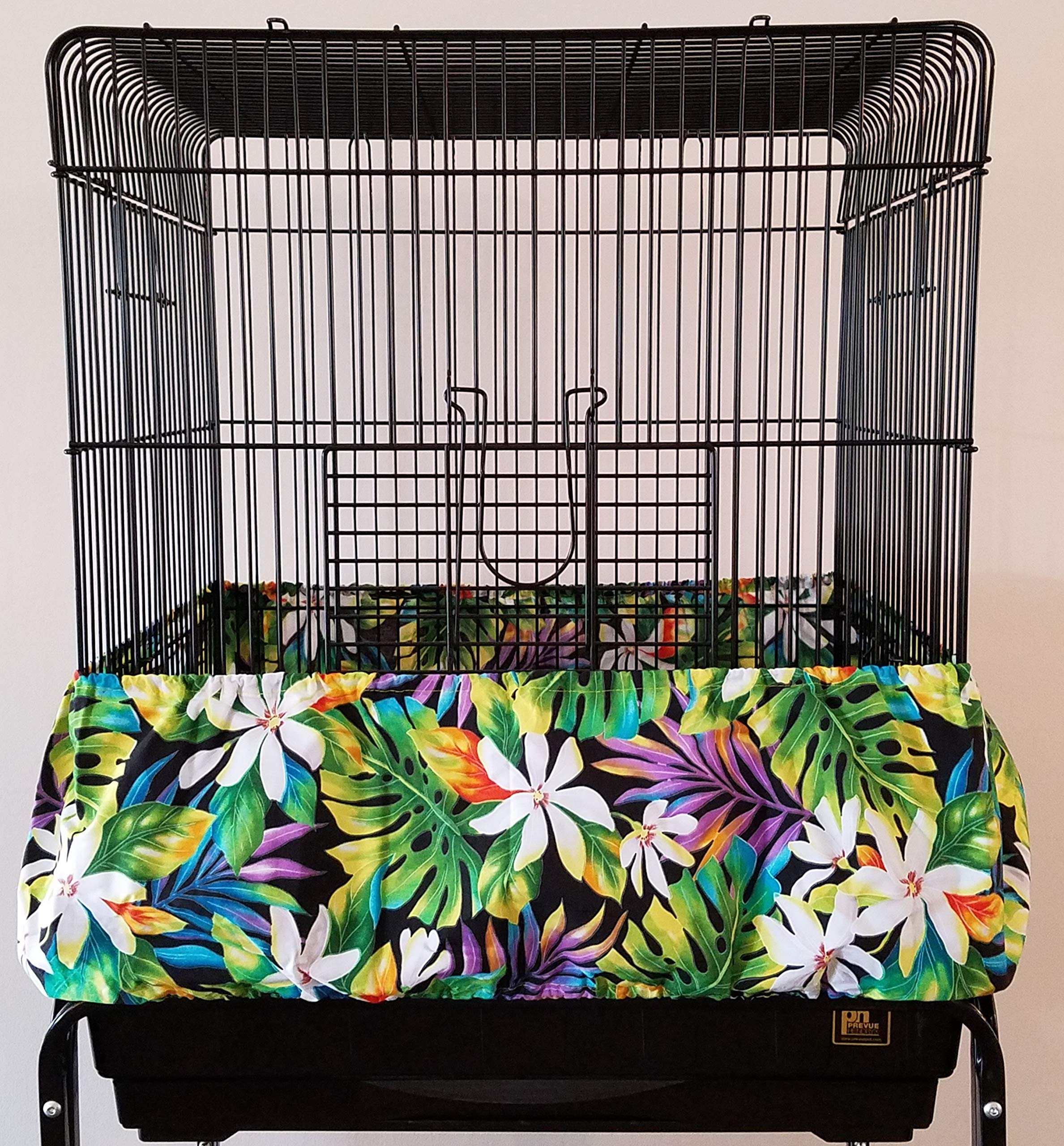 Penn Seed Seed Guard and Catcher Bird Cage Skirt - Tiare Dreamscape (Extra Large (56''-112'' Cage Circumference)) by Penn Seed