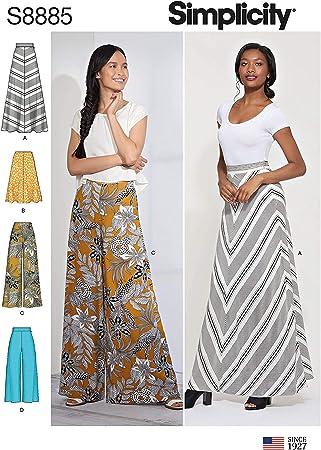 SIMPLICITY S8885 - Patrón de costura para falda y pantalones ...