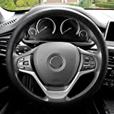 FH GROUP FH3001 Snake Pattern Silicone Steering Wheel Cover, Black Color-Fit Most Car, Truck, Suv, or Van