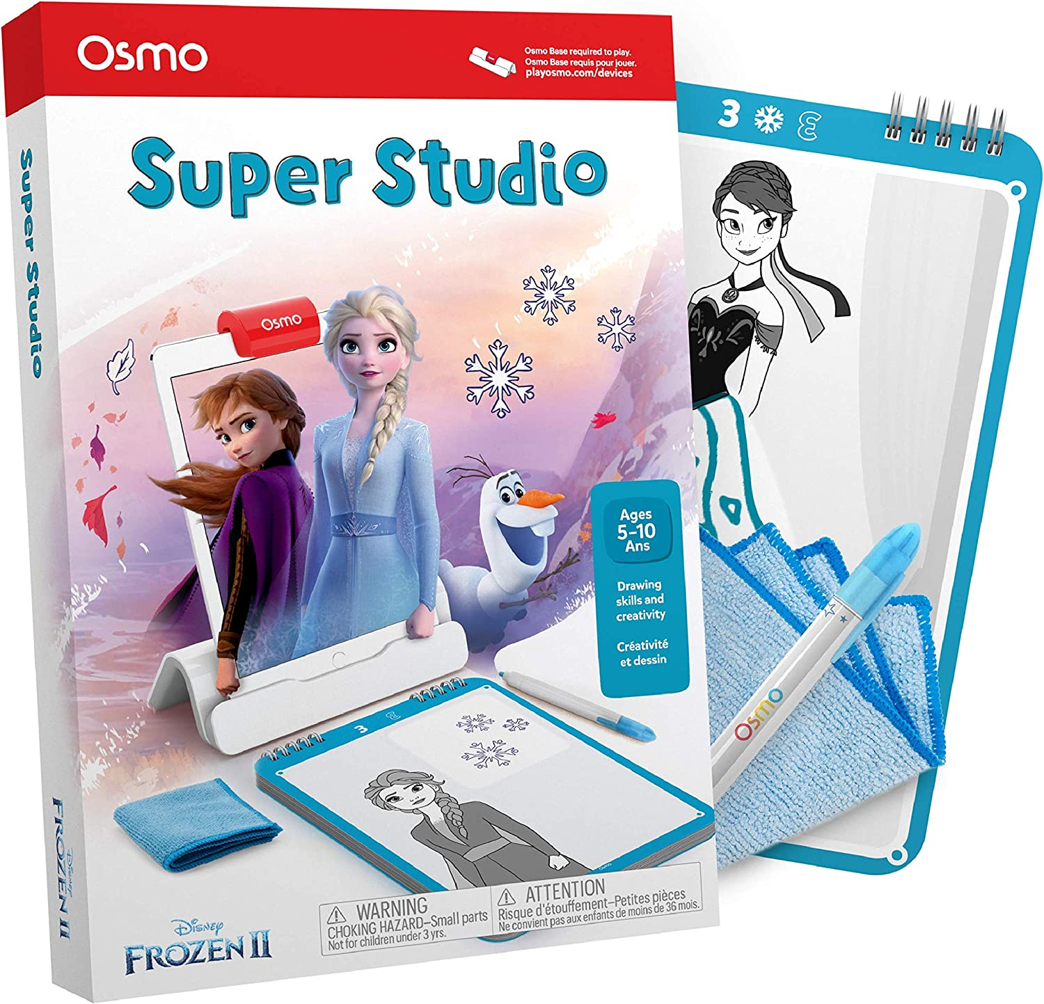Osmo - Super Studio Disney Frozen 2 - Ages 5-11 - Drawing Activites - For iPad or Fire Tablet (Osmo Base Required)