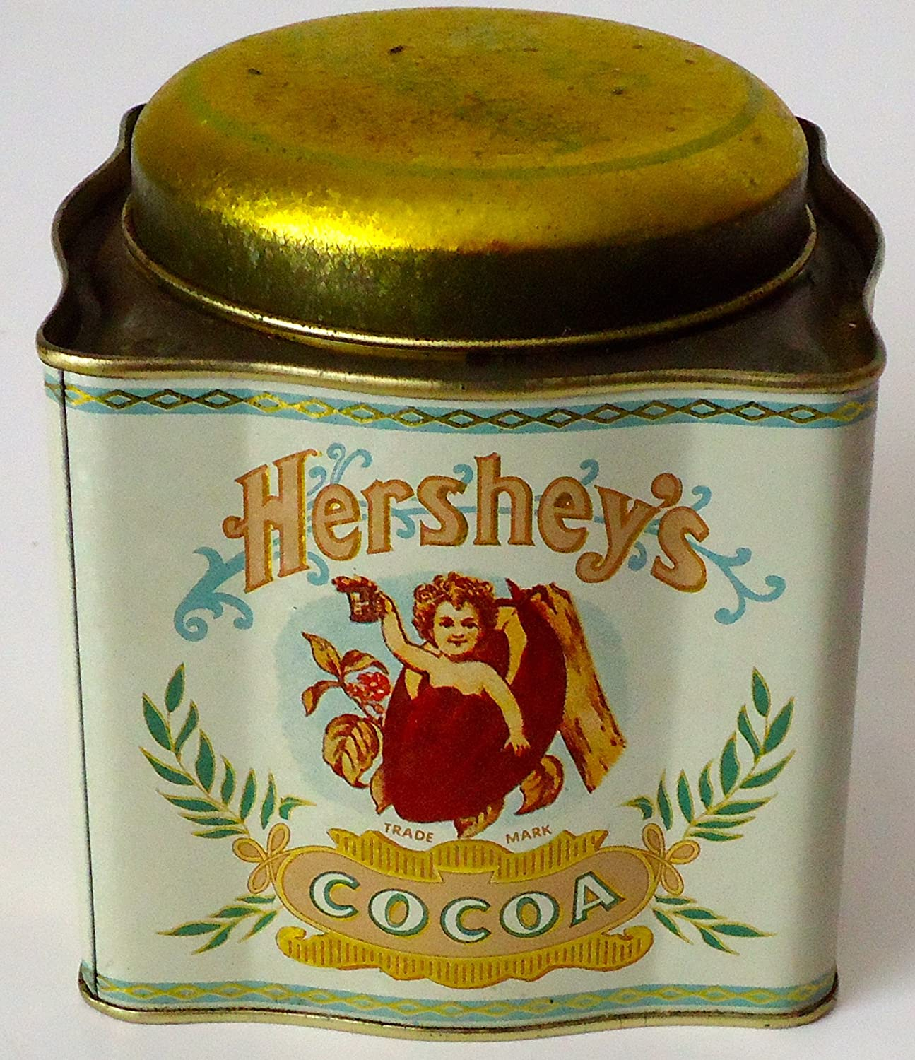 Amazon.com : Hershey's Cocoa Square Vintage Collectible Tin Can : Other  Products : Grocery & Gourmet Food