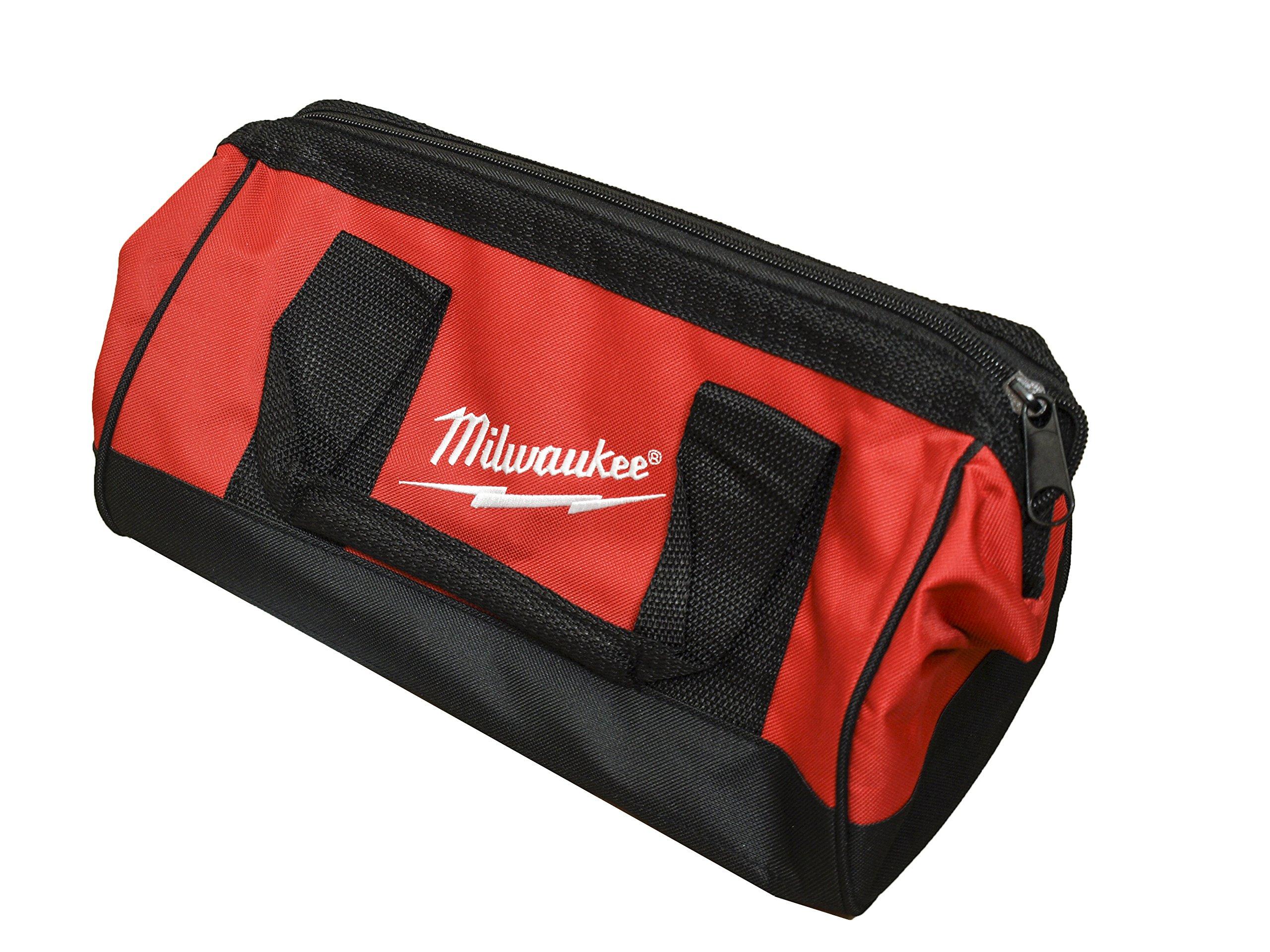 Milwaukee Bag13x6x8nch Heavy Duty Canvas Tool Bag 6 Pocket