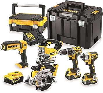 DeWalt dck551p3t-qw Kit de 5 herramientas eléctricas portátiles 18 ...