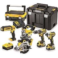 DeWalt dck551p3t-qw Kit de 5 herramientas eléctricas portátiles 18 V 5 Ah – incluye 3 baterías y maletín de transporte