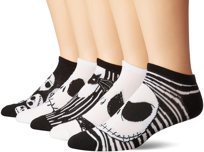 Disney Men\'s Nightmare Before Christmas 5 Pack No Show Socks 85%OFF ...