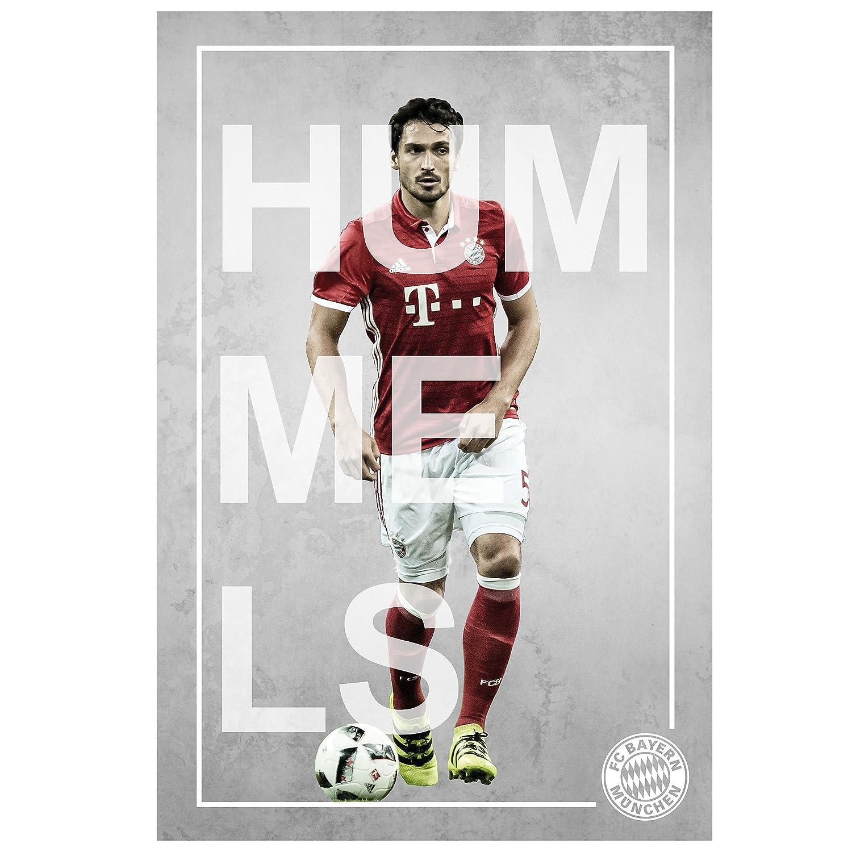 Poster Spieler Hummels FC Bayern M/ünchen Spielerportrait FCB gratis Aufkleber