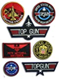OneKool Lot de 6 écussons + 1 sticker Top Gun «Maverick» Thermocollant