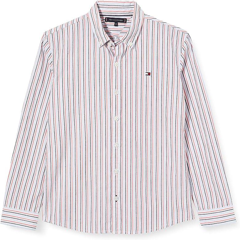 Tommy Hilfiger Seersucker Stripe Shirt L/s Camisa, Blanco (White/Multi Ybr), 3-4 años (Talla del Fabricante: 3) para Niños: Amazon.es: Ropa y accesorios