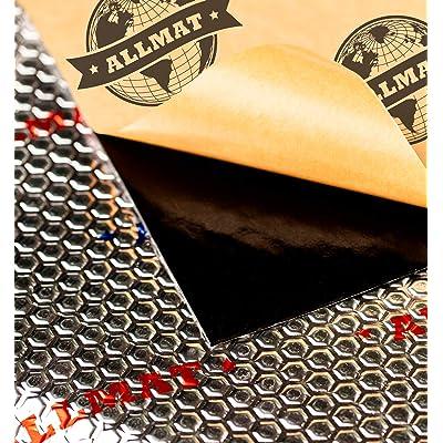 ALLMAT 80 mil 36 sqft Car Sound Deadening Mat, Waterproof Auto Foil Installation, Sound Dampening Insulator: Automotive