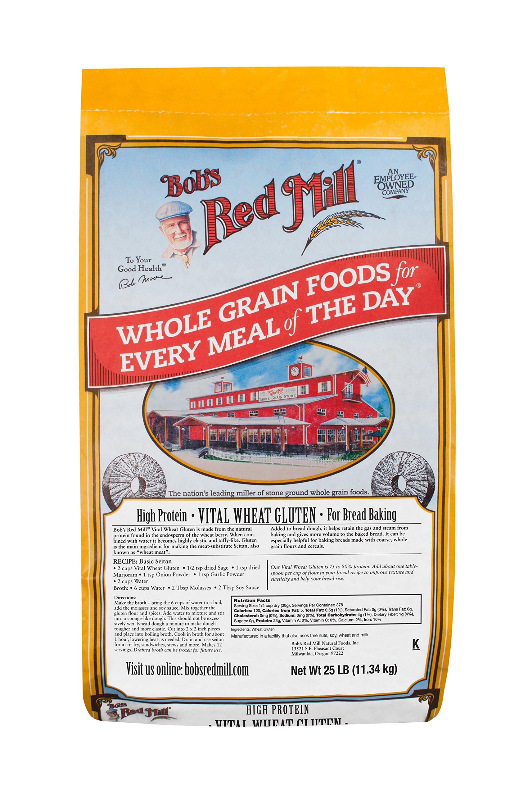 Bob's Red Mill Vital Wheat Gluten Flour, 25 Pound by Bob's Red Mill