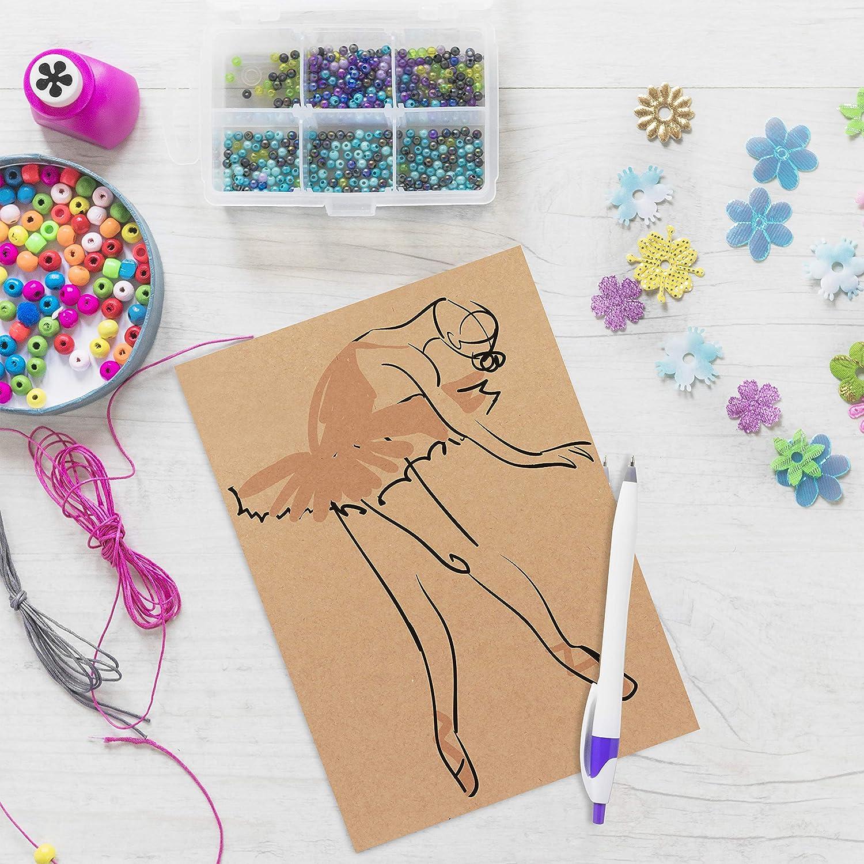- 22 x 30cm Cartoncino Kraft Color Marrone Cartoncini Scrapbooking Paper Set da 6 Bricolage Fogli di Cartone Spessi 0,29cm per Arte ed Artigianato Cartone Rigido Fogli Pittura e Disegno