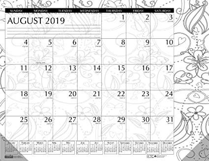 House of Doolittle 2019-2020 Monthly Desk Pad Calendar, Academic, Black on planner sheets, planner backgrounds, planner art, planner ideas, planner brands, planner love, planner templates, planner fun, planner paper, planner stamps, planner icons, planner quotes,