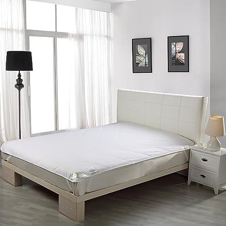 Cubre colchón Relleno Seda natural 100 gr/m2, Exterior Algodón 100% para cama