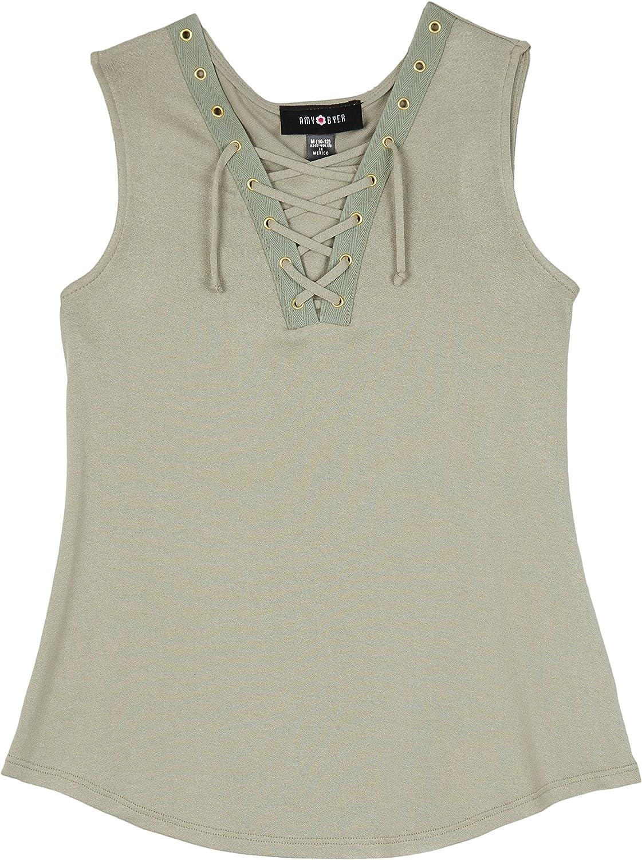 Amy Byer Girls Big Sleeveless Sneaker Shirt