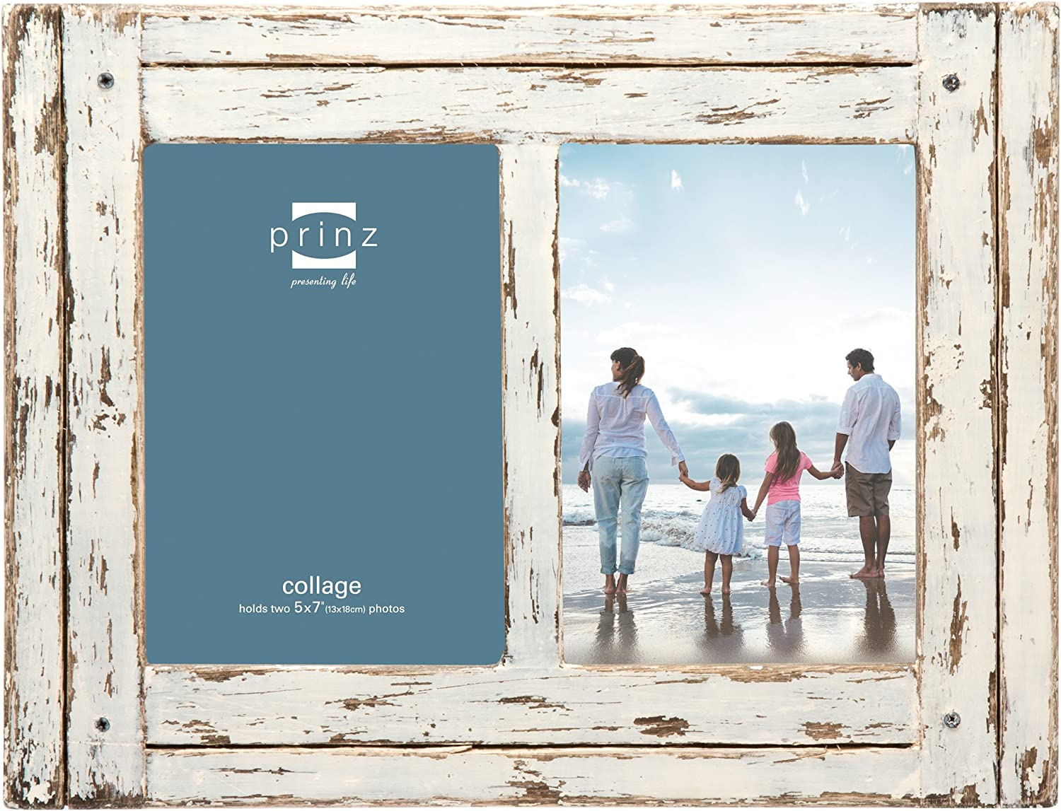 PRINZ Homestead Picture Frame, 5 x 7, Distressed White