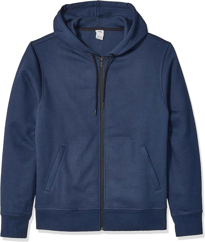 Essentials Men's Water-Repellent Thermal-Lined Full-Zip Fleece Hoodie: Clothing