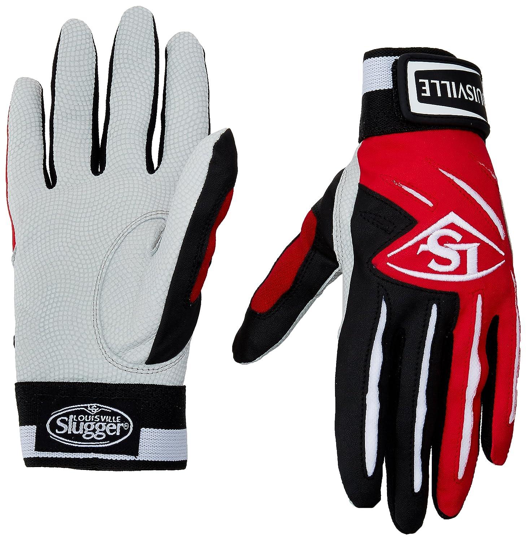 Louisville Slugger Youthシリーズ5バッティング手袋 B00FRHK9D4 Large|スカーレット スカーレット Large