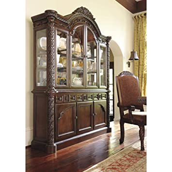 Ashley North Shore D553 80 70quot Dining Room Buffet With Carved And Molding Details