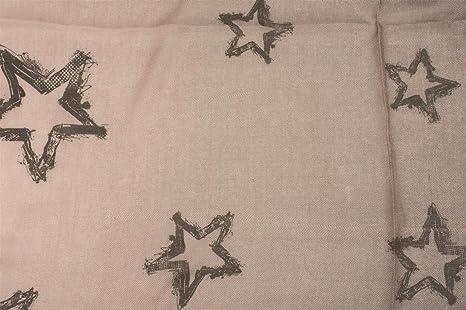 styleBREAKER écharpe avec dégradé de couleurs et étoiles vintage All-Over,  franges sur les bords, tissu, femme 01016145, couleur Anthracite-Crème  ... 46afd61d1e7