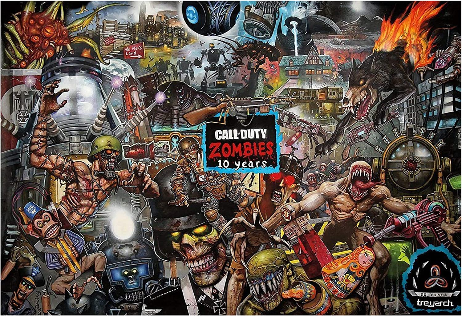 Amazon Com Call Of Duty Black Ops 4 Zombies 10 Years Game Print 11x17 13x20 18x24 11 X17 27x43cm Posters Prints